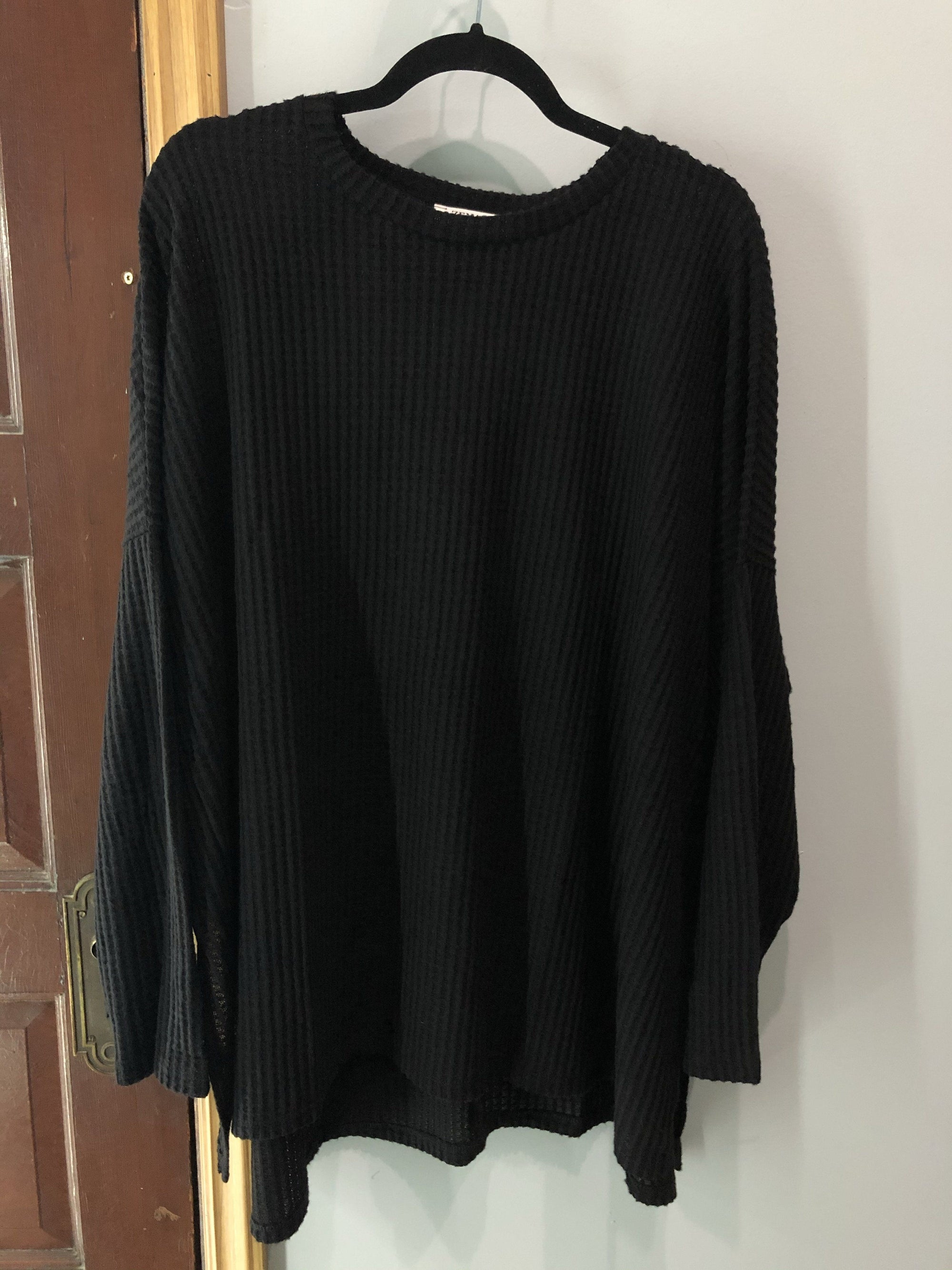 The Adeline Waffle Knit Sweater Long sleeve Zenana