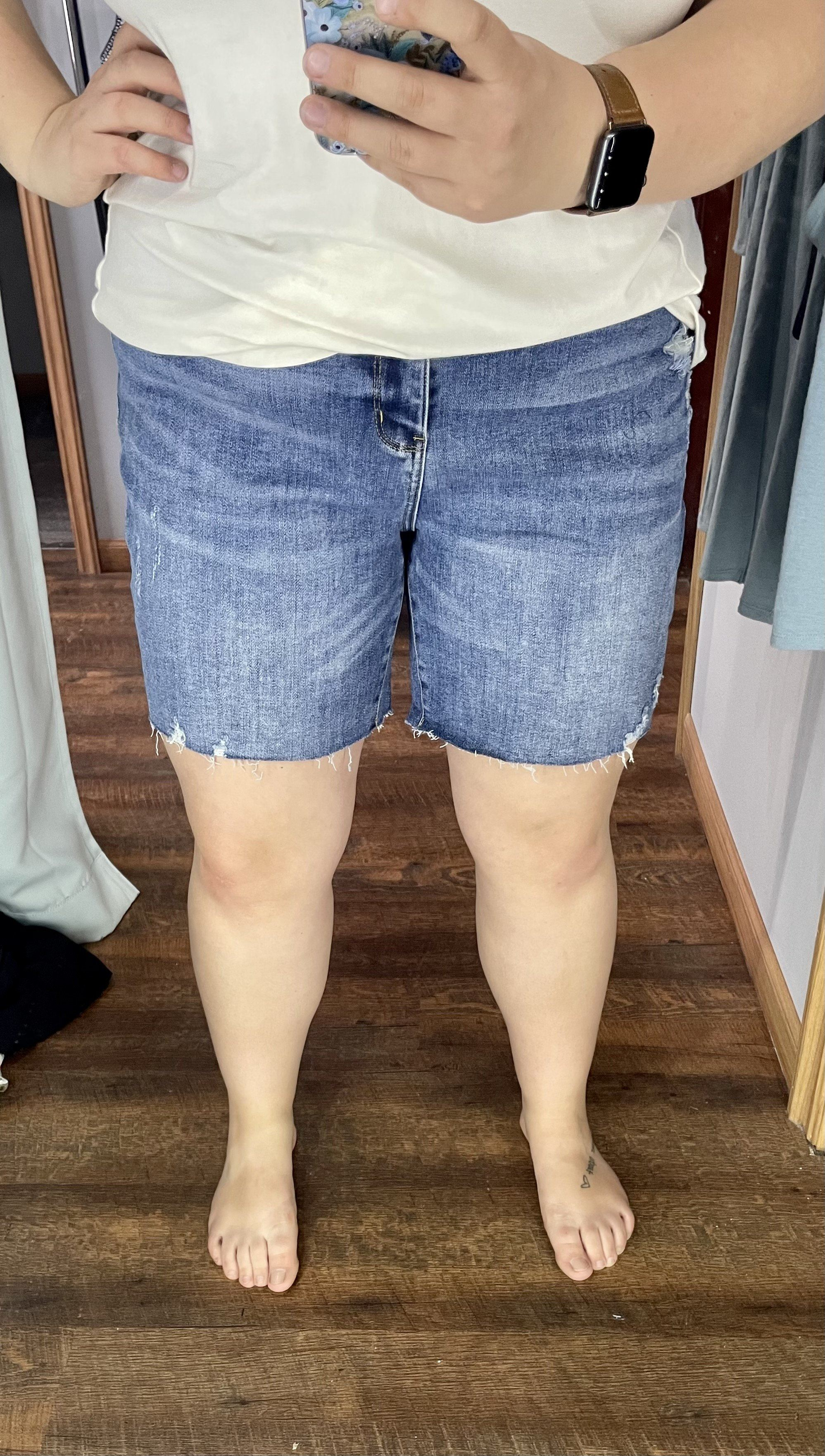 The Angela Judy Blue Medium Wash Shorts up to Plus Shorts Judy Blue