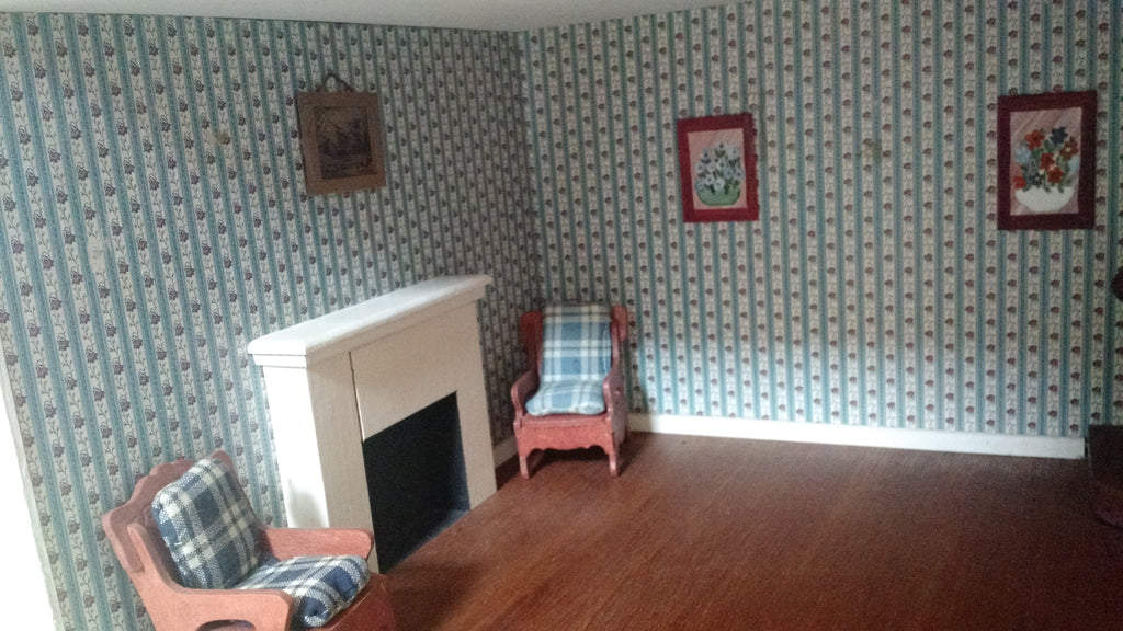 How to Wallpaper a Dollhouse