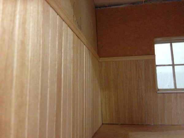 How To Apply Wood Dollhouse Paneling Little Shop Of Miniatures