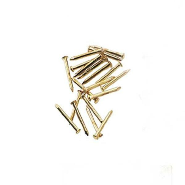 Dollhouse miniature brass pin heads.