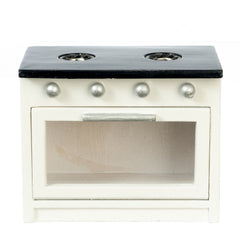 Black & White Dollhouse Miniature Kitchen Stove