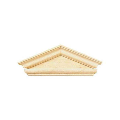 A hooded dollhouse miniature window pediment in the federal style.