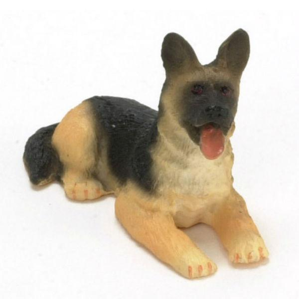 A 1/24 scale miniature German Shepherd dog.