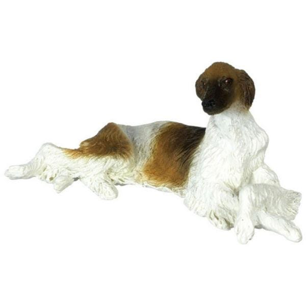 A miniature Borzoi dog.