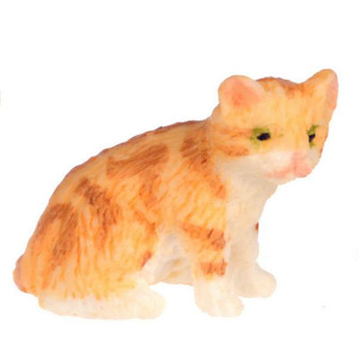 Dollhouse Miniature Orange Kitten - Little Shop of Miniatures