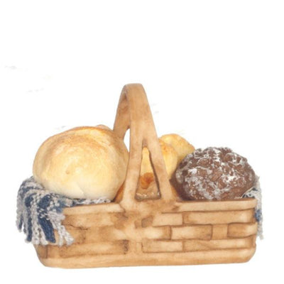 Dollhouse Miniature Bread in a Basket - Little Shop of Miniatures