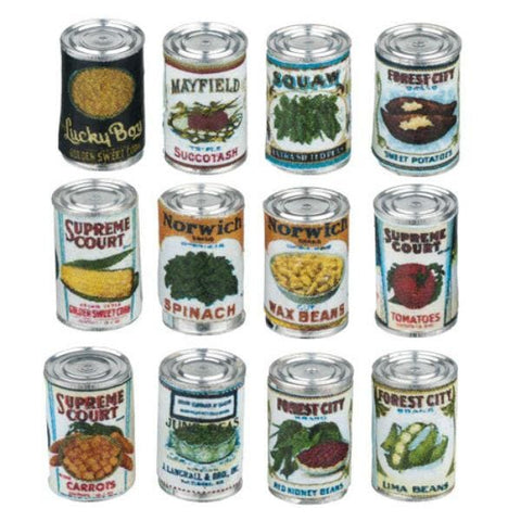 Dollhouse Miniature Canned Food Set - Little Shop of Miniatures