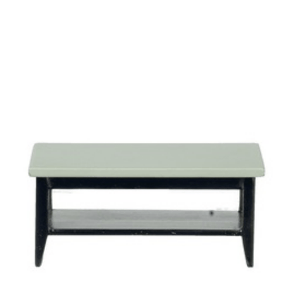 Black & Gray Dollhouse Miniature Coffee Table