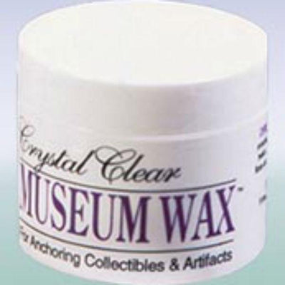 Crystalline clear museum wax.