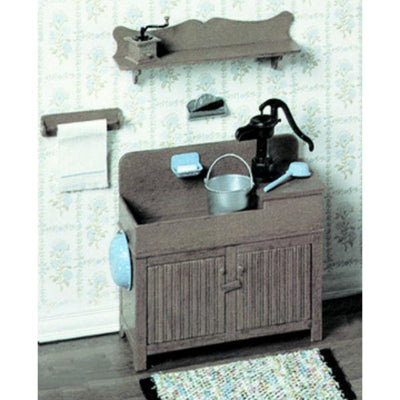 A Chrysnbon dollhouse dry sink kit.