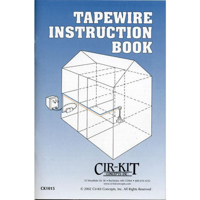 "A book cover for ""Tapewire Instruction Book."""