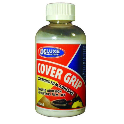 A bottle of Cover Grip adhesive.
