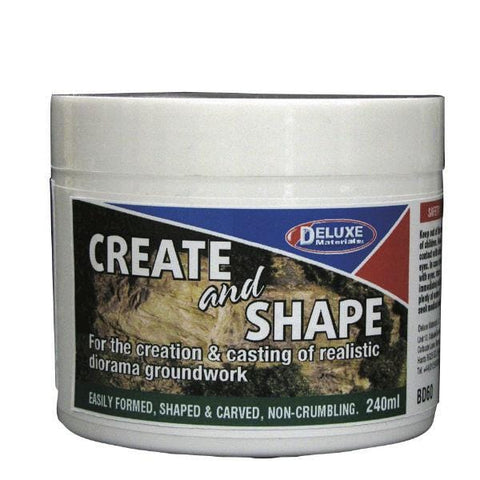 A jar of Create and Shape modeling material.