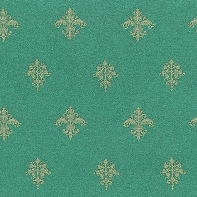 Decorative Emerald Dollhouse Wallpaper - Little Shop of Miniatures