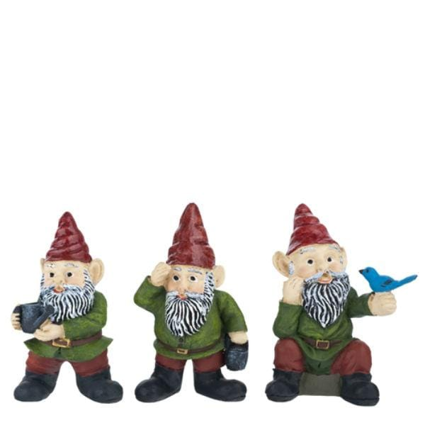 Dollhouse miniature garden gnomes