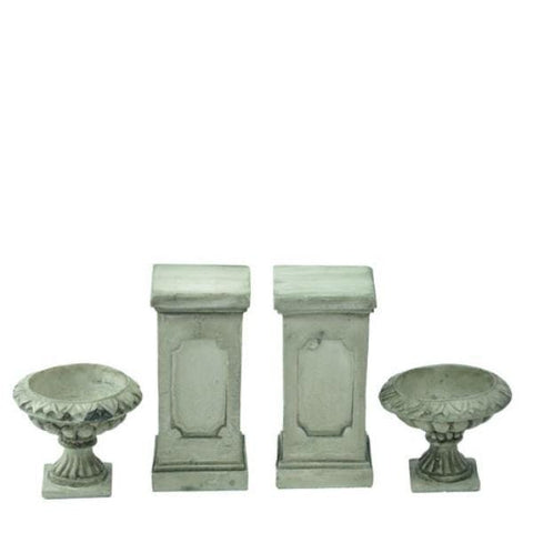 Dollhouse Miniature Urn & Pedestal Set - Little Shop of Miniatures