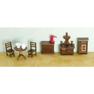 A 148 scale dollhouse furniture kitchen set.
