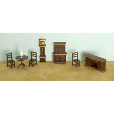 A 1/48 scale dollhouse furniture living room set.