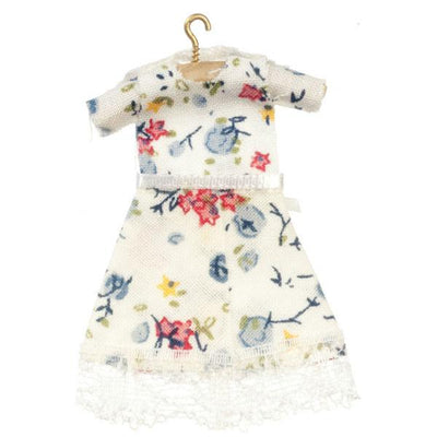 Floral doll clothing dress for girls.