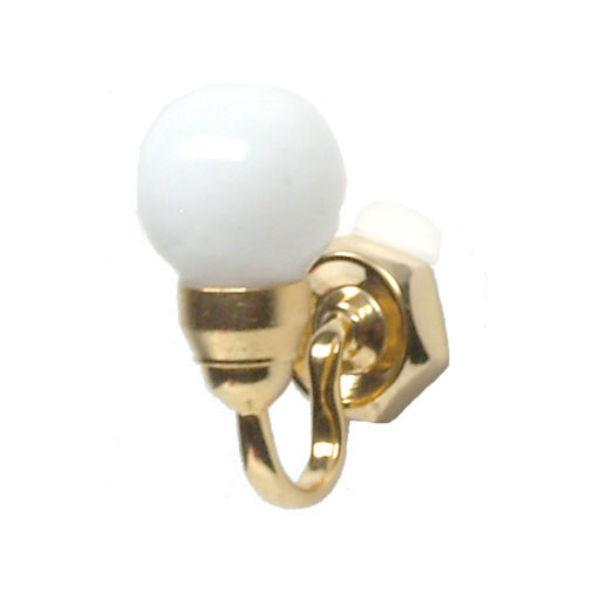 A 1/24 scale dollhouse miniature globe wall sconce.