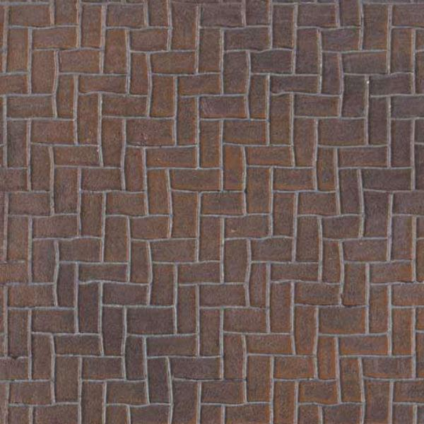 Dollhouse miniature herringbone brick latex sheet.