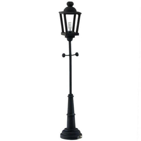 Battery-Operated Dollhouse Miniature Black Yard Lamp - Little Shop of Miniatures