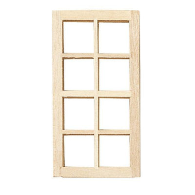 Standard 8-Light Dollhouse Miniature Window - Little Shop of Miniatures