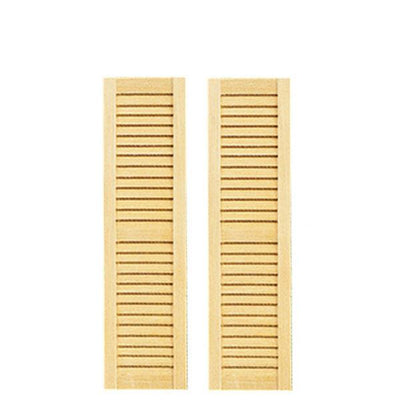 Small Louvered Dollhouse Shutters - Little Shop of Miniatures