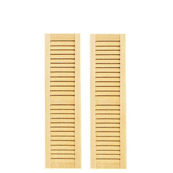 Dollhouse miniature louvered shutters.