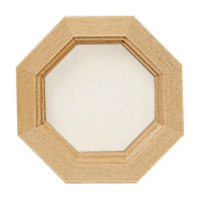 A dollhouse miniature octagon window.