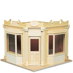 A dollhouse corner shop kit.