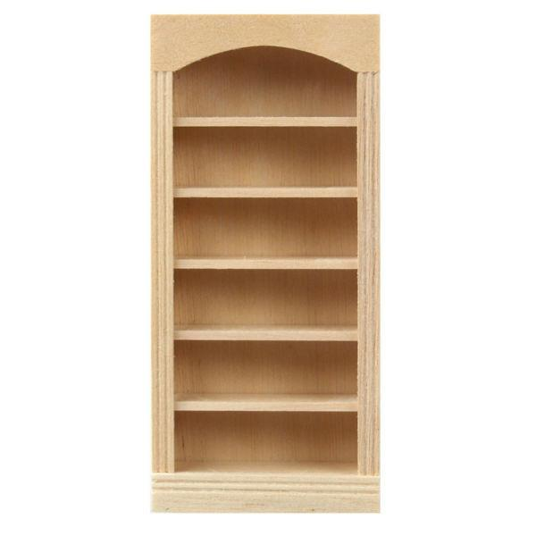 A 1/24 scale dollhouse furniture bookcase.