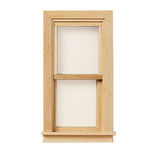 A 1/24 scale dollhouse miniature window.