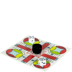 A dollhouse miniature Parcheesi.