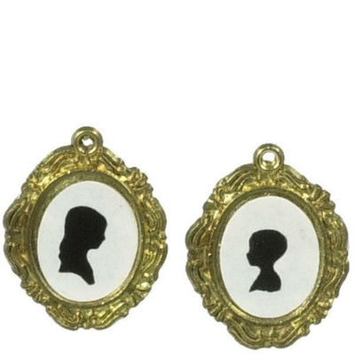 Framed Dollhouse Miniature Silhouette Pictures - Little Shop of Miniatures