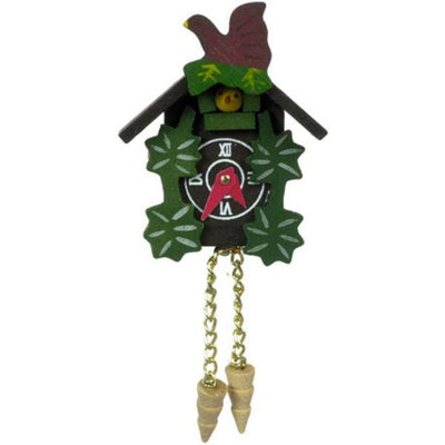 A dollhouse miniature cuckoo clock.