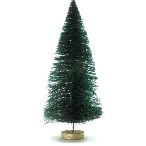 A dollhouse miniature sisal Christmas tree.