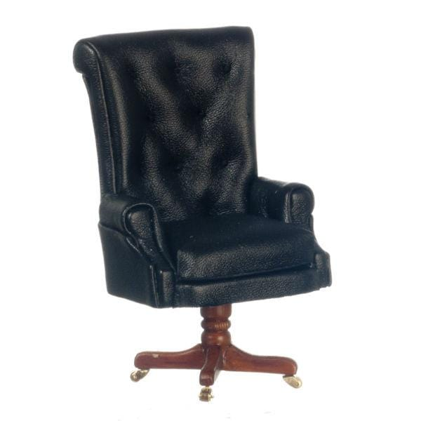A miniature version of the desk chair used by President Reagan.