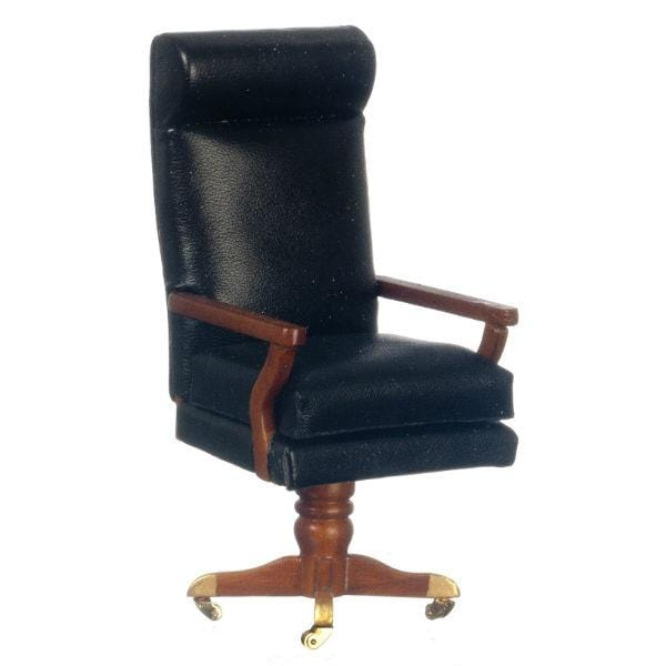 A miniature version of the desk chair used by President Kennedy.