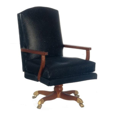 A miniature version of the desk chair used by President Johnson.