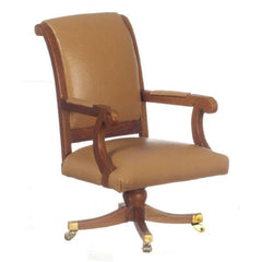 A miniature version of the desk chair used by President George H.W. Bush.