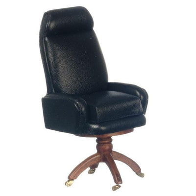 A miniature version of the desk chair used by President George W. Bush.
