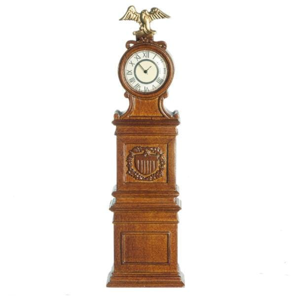 A miniature version of the Ohio clock outside the Senate chamber.