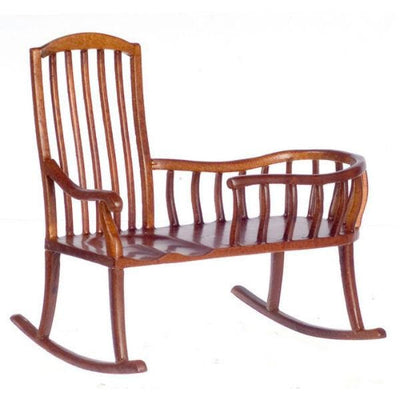 A walnut dollhouse furniture nanny rocking chair.