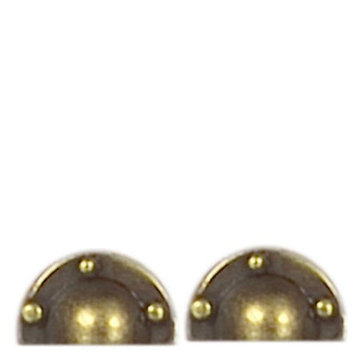 Two half round brass door pulls.