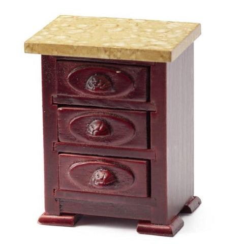 Mahogany Dollhouse Miniature Nightstand - Little Shop of Miniatures