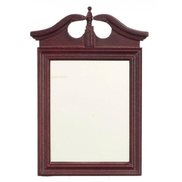 A dollhouse furniture mahogany mirror.