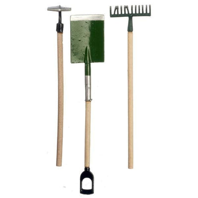 Dollhouse Miniature Rake, Shovel & Hoe - Little Shop of Miniatures