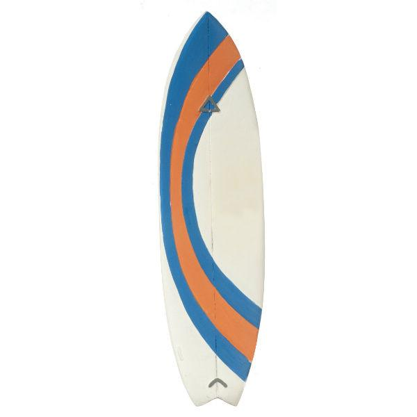 A dollhouse miniature surfboard.